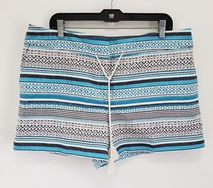 Ann Taylor Shorts - Ann Taylor The Riviera Tribal Jacquard Blue Shorts